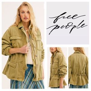 Free People Seize The Day Utility Jacket.  NWT.